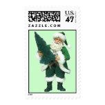 Irish Christmas Santa Claus Stamp