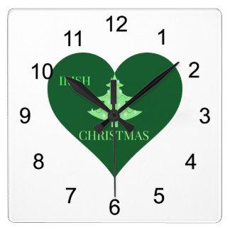 Irish Christmas Square Wallclock