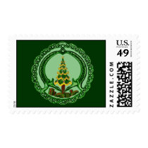 Irish Christmas Tree Claddagh Postage