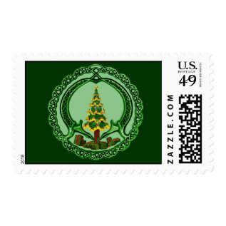 Irish Christmas Tree Claddagh Postage at Zazzle