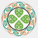 irish-circle2 pegatinas redondas