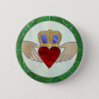 Irish Claddagh Button
