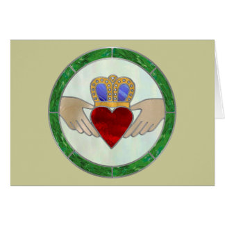 Irish Claddagh Card