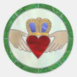 Irish Claddagh Classic Round Sticker