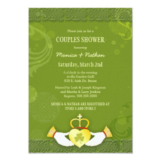 Irish Claddagh Heart Wedding Couples Shower Card