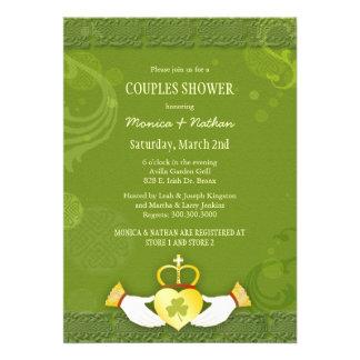 Irish Claddagh Heart Wedding Couples Shower Invite