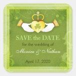 Irish Claddagh Heart Wedding Save the Date Sticker