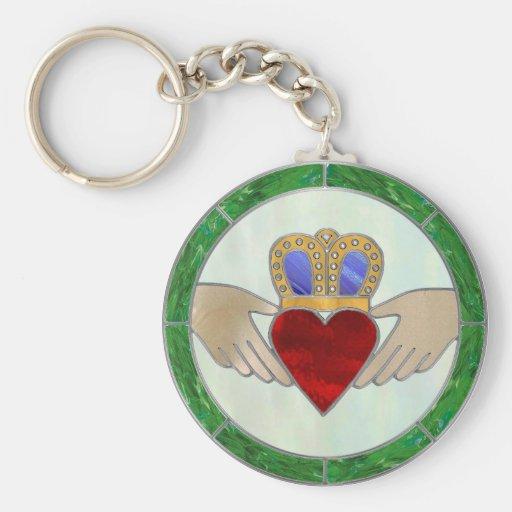 Irish Claddagh Keychain
