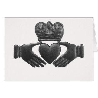Irish claddagh love symbol card