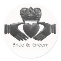 Irish Claddagh Love Symbol Stickers