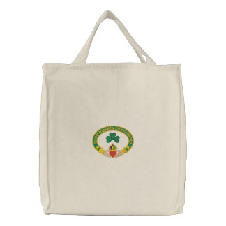 Irish Claddagh Ring Embroidered Tote Bag