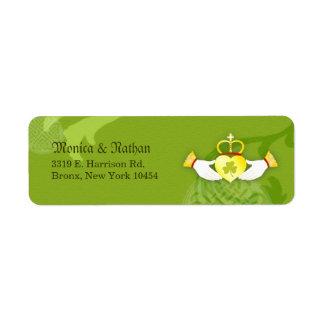 Irish Claddagh Ring Wedding Label