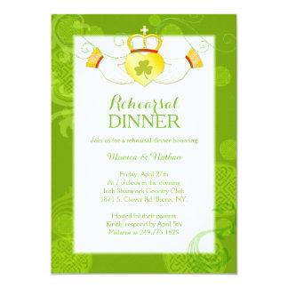 Irish Claddagh Ring Wedding Rehearsal Dinner Card