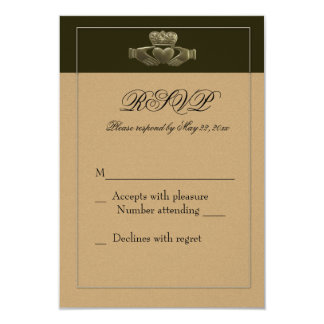 Irish Claddagh RSVP Card