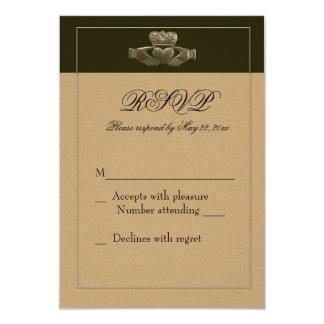 Irish Claddagh RSVP Personalized Invitation