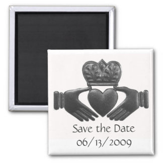 Irish Claddagh save the date magnet