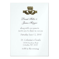 Irish Claddagh Wedding Invitation