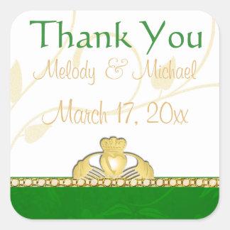 Irish Claddagh Wedding Thank You Stickers