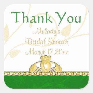 Irish Claddaugh Claddagh Thank You Stickers
