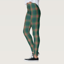 Irish Clan Gallagher Tartan Plaid Leggings