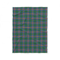 Irish Clan MacAuliffe McAuliffe Classic Tartan Fleece Blanket