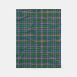 Irish Clan MacAuliffe McAuliffe Classic Tartan Fleece Blanket