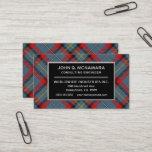 Irish Clan MacNamara McNamara Tartan Plaid Business Card