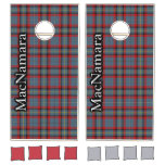 Irish Clan MacNamara Tartan Dynasty Cornhole Set