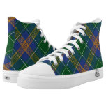 Irish Clan McAuliffe MacAuliffe Tartan High-Top Sneakers