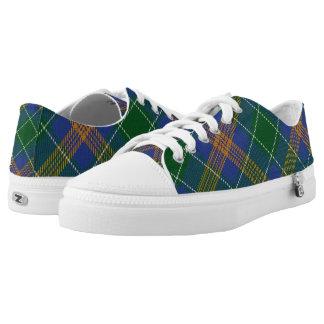 Irish Clan McAuliffe MacAuliffe Tartan Low-Top Sneakers
