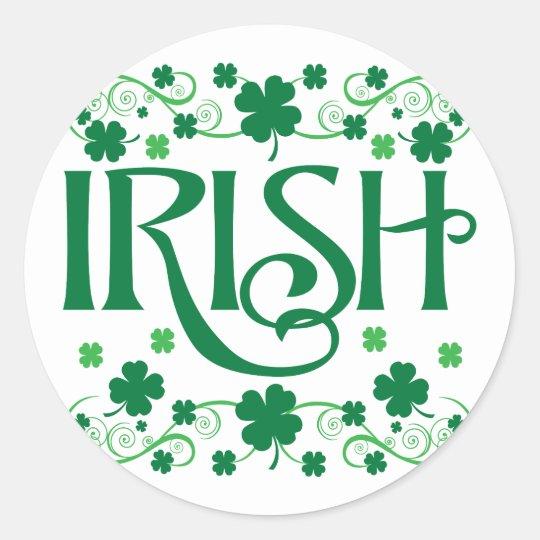 Irish Classic Round Sticker