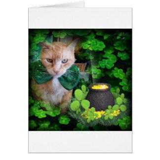 Irish Claude Cat Card