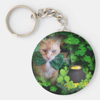 Irish Claude Cat Keychain