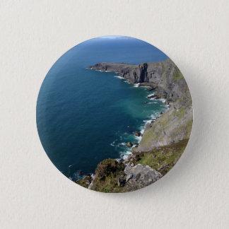 Irish Cliffs In Dingle Ireland By The Ocean Button