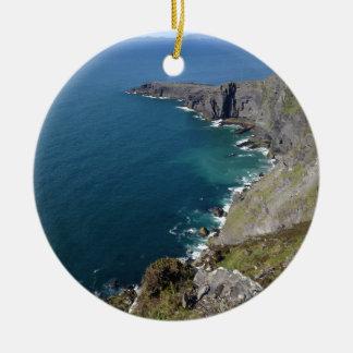 Irish Cliffs In Dingle Ireland By The Ocean Ceramic Ornament