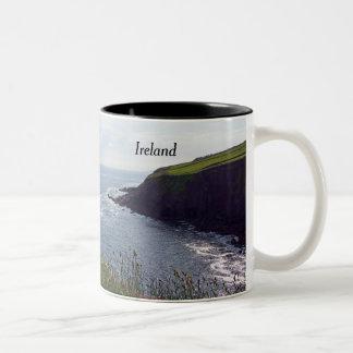 Irish Cliffs Two-Tone Coffee Mug