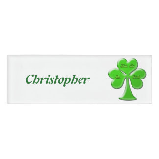 Irish Clover #1 Name Tag