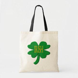 Irish Clover Canvas Bags