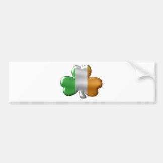 irish clover bumper sticker