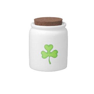 IRISH CLOVER CANDY DISHES