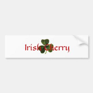 Irish_clover, cereza irlandesa pegatina para auto
