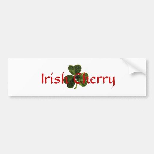 Irish_clover, cereza irlandesa etiqueta de parachoque