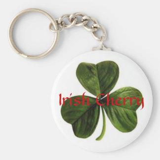 Irish_clover, cereza irlandesa llavero redondo tipo pin