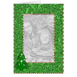 Irish Clover Christmas - Customized - Customized Greeting Card