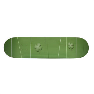 Irish Clover Design Skateboard