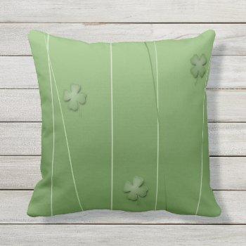Irish Clover Design Throw Pillow
