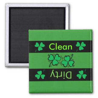 Irish clover dishwasher magnet