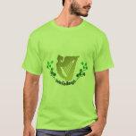 Irish Clover Erin Go Bragh Irish Harp Eire T-Shirt