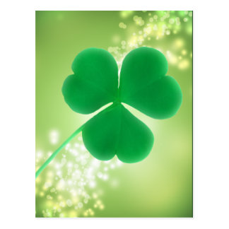 Irish Clover Green Sparkles | Saint Patrick's Day Postcard