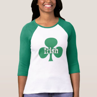 Irish Clover Ladies 3/4 Sleeve Raglan Fitted Shirt
